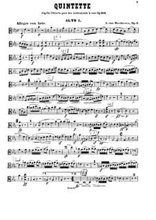String Quintet No.1 in E Flat Major, Op.4: viola parte I by Ludwig van Beethoven