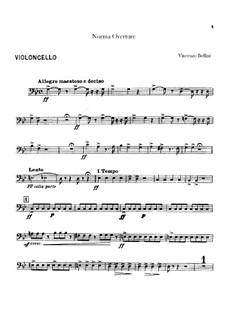 Overture: parte violoncelo by Vincenzo Bellini