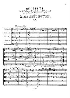 String Quintet No.1 in E Flat Major, Op.4: movimento I by Ludwig van Beethoven