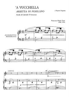 A Vucchella: Para vocais e piano by Francesco Paolo Tosti