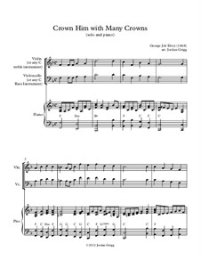 Crown Him with Many Crowns: For solo and piano by George Job Elvey