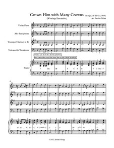 Crown Him with Many Crowns: For worship ensemble by George Job Elvey