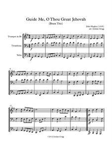 Guide Me, O Thou Great Jehovah: Para trio de bronze by John Hughes