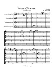 Morag of Dunvegan: para quarteto de saxofone by folklore