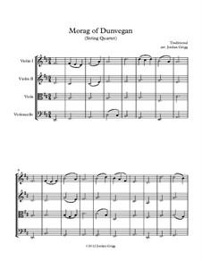 Morag of Dunvegan: para quartetos de cordas by folklore