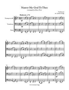 Nearer, My God, To Thee: Para trio de bronze by Lowell Mason