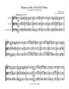 Nearer, My God, To Thee: para trio de cordas by Lowell Mason