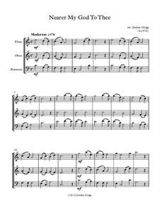 Nearer, My God, To Thee: Para trio de instrumento de sopro de madeira by Lowell Mason