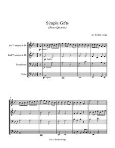 Simple Gifts: para quarteto de bronze by Joseph Brackett