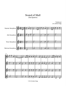 Sound of Mull: para quarteto de saxofone by folklore