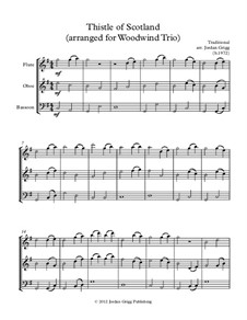 Thistle of Scotland: Para trio de instrumento de sopro de madeira by folklore