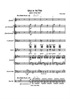 Walk in the Park (Grade 2 Stage Band): Walk in the Park (Grade 2 Stage Band) by Jordan Grigg