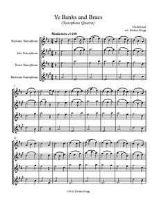 Ye Banks and Braes: para quarteto de saxofone by folklore