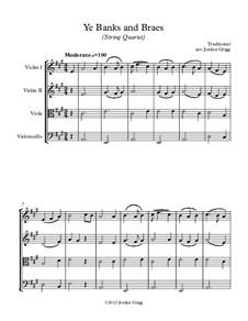 Ye Banks and Braes: para quartetos de cordas by folklore