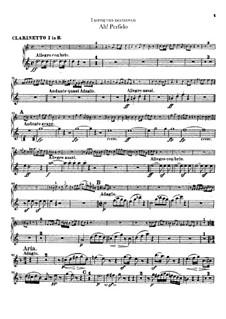 Ah! Perfido, Op.65: parte clarinetas by Ludwig van Beethoven