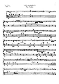 Ah! Perfido, Op.65: parte flauta by Ludwig van Beethoven