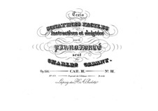 Trois sonatines faciles, Op.158: Sonatina No.3 by Carl Czerny