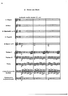 Movement II. Scene by the Brook: partitura completa by Ludwig van Beethoven