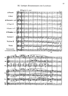 Movement III. Happy Gathering of Villagers: partitura completa by Ludwig van Beethoven