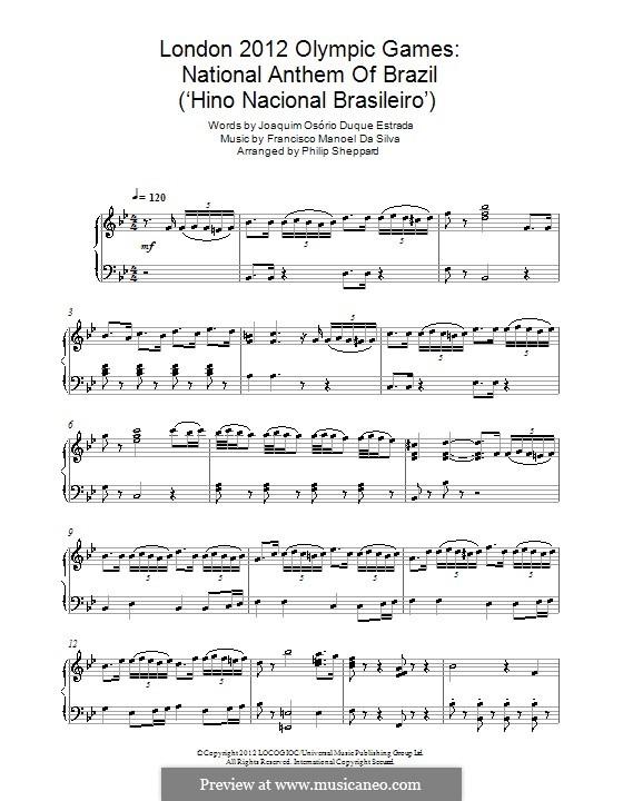Hino Nacional Brasileiro: Para Piano by Francisco Manuel da Silva