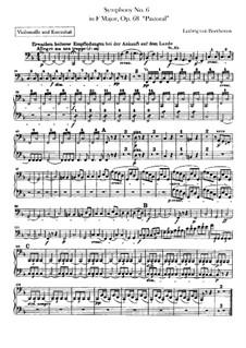 Complete Symphony: parte violoncelo e contrabaixo by Ludwig van Beethoven