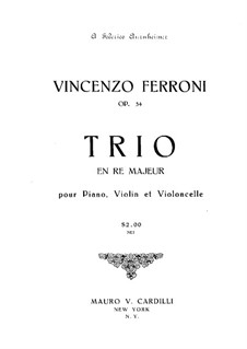 Piano Trio in D Major, Op.54: Partitura completa by Vincenzo Ferroni