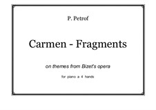 Selected Themes: para piano de quadro mãos by Georges Bizet