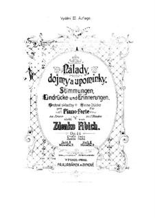 Book 1, Op.44 No.11-16: Livro 1 by Zdeněk Fibich