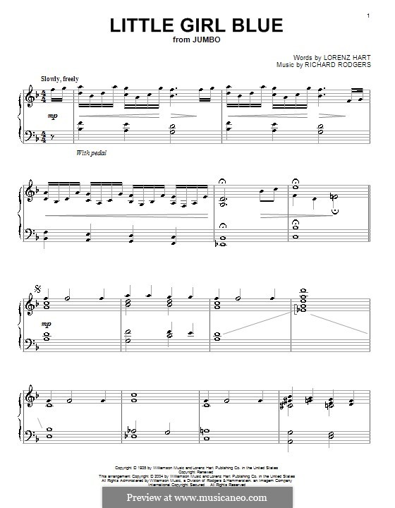 Little Girl Blue: Para Piano by Richard Rodgers