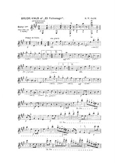 Bridal waltz: para duas guitarras by Niels Wilhelm Gade