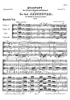 String Quartet No.11 in F Minor 'Serioso', Op.95: Partitura completa by Ludwig van Beethoven