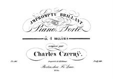 Impromptu Brillant, Op.116: Impromptu Brillant by Carl Czerny