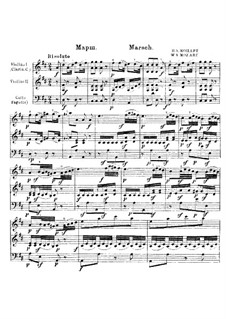March in D Major, K.290: partitura completa by Wolfgang Amadeus Mozart