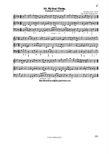 The (English) Dancing Master: Volume I/2 (Fly - L) by Henry Purcell, Jean-Baptiste Lully, Georg Friedrich Händel, André Campra, Unknown (works before 1850), Mr. Isaac