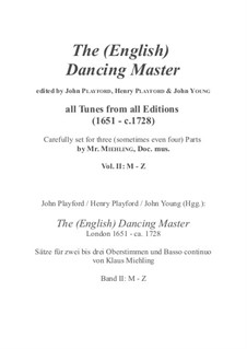 The (English) Dancing Master: Volume II/1 (M - Rim) by Henry Purcell, Jean-Baptiste Lully, Georg Friedrich Händel, André Campra, Unknown (works before 1850), Mr. Isaac