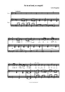 Se tu m'ami, se sospiri: Piano-vocal score (Italian and english texts) by Giovanni Battista Pergolesi