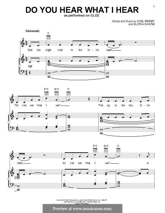 Do You Hear What I Hear: Para voz e piano ou guitarra (Glee Cast) by Gloria Shayne, Noël Regney