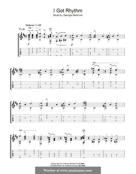 I Got Rhythm: For guitar (Jerry Willard) by George Gershwin