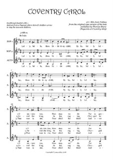 Coventry Carol for SSA ensemble: Coventry Carol for SSA ensemble by Unknown (works before 1850)