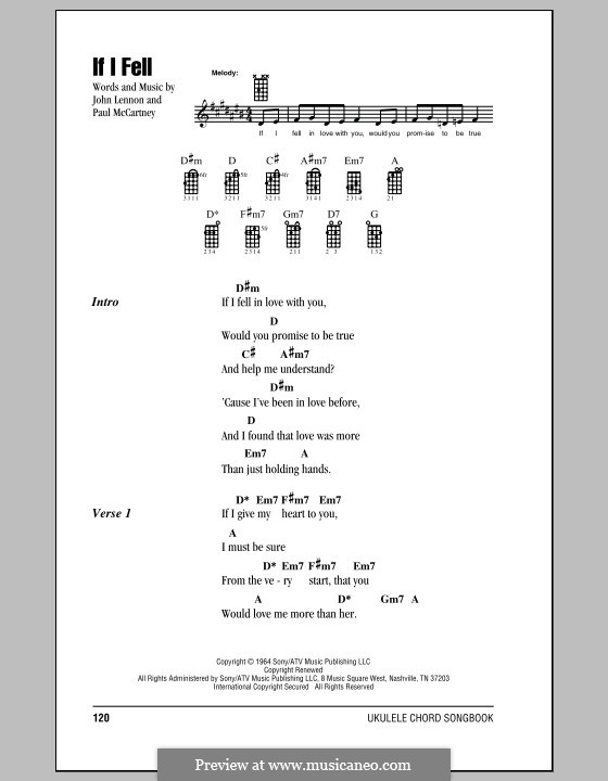 If I Fell (The Beatles): para ukulele by John Lennon, Paul McCartney