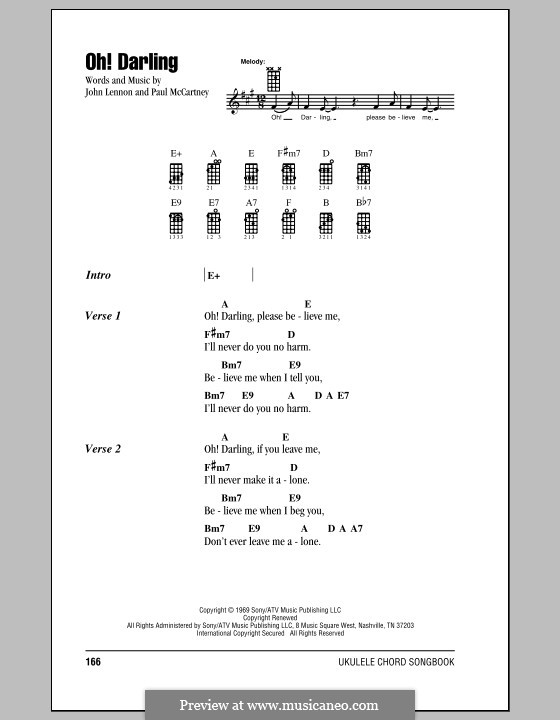 Oh! Darling (The Beatles): para ukulele by John Lennon, Paul McCartney