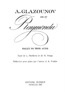 Raymonda, Op.57: Act I, Scene I for piano by Alexander Glazunov