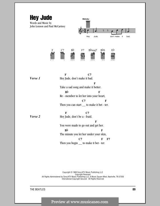 Hey Jude (The Beatles): para ukulele by John Lennon, Paul McCartney