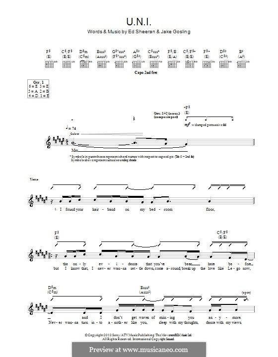 U.N.I: Para guitarra com guia by Ed Sheeran, Jake Gosling