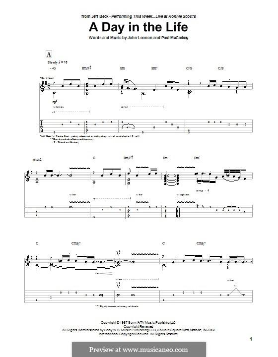 A Day in the Life (The Beatles): Para guitarra com guia by John Lennon, Paul McCartney