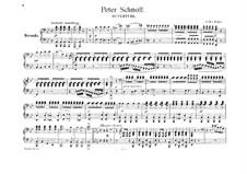 Peter Schmoll und seine Nachbarn (Peter Schmoll and his Neighbours), J.8 Op.8: Overture, para piano para quatro mãos by Carl Maria von Weber