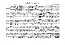 Jubilee Overture, J.245 Op.59: para piano de quadro mãos by Carl Maria von Weber