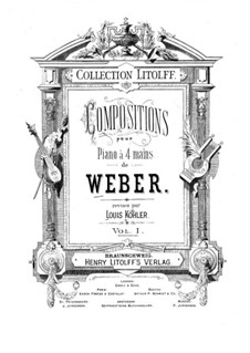 Eight Pieces for Piano Four Hands, Op.60: set completo by Carl Maria von Weber