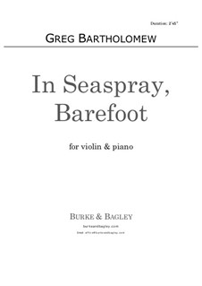 In Seaspray, Barefoot: para violino by Greg Bartholomew