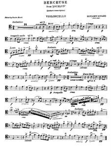 Berceuse: Score for cello and piano, solo part by Benjamin Godard